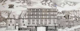 Drawing hotel Aguado Dieppe